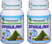 Planet Ayurveda Spirulina, 500mg Veg Capsules - 2 Bottles
