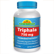Triphala 750 mg 120 Vcaps by Nova Nutritions