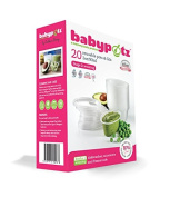 Babypotz - 20 90ml BPA Free Plastic Reusable Containers for Freezing Baby Food / Weaning Pots
