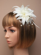 Allsorts® Cream Beaded Beak Clip Fascinator Weddings Ladies Day Race Royal Ascot