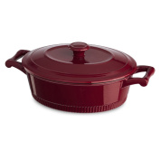 KitchenAid KCTI40CRER Traditional Cast Iron Casserole Cookware, 5.7l, Empire Red