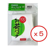 5x100pcs Disposable Filter Bags for Loose Tea -Hard type