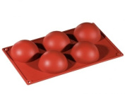 Formaflex Silicone Mould - Hemisphere ø 80 mm h 40 mm 5 indents