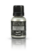 Ready-to-use Metallic Pearlescent White 100% Edible Food Paint for Cake and Icing Decoration