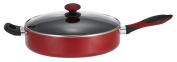 Mirro A79682 Get A Grip Aluminium Nonstick Jumbo Cooker Deep Fry Pan with Glass Lid Cover, 30cm