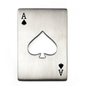 Willss Credit Card Size Casino Poker Shaped Bottle Opener