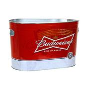 Budweiser Beer Oblong Metal Painted Ice Gift Bucket Tub Tote