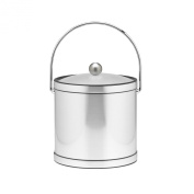 Kraftware Brushed Chrome Ice Bucket with Bale Handle and Lucite Cover - 2.8l