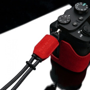 Gariz Special Alcantara Version XS-WBA2 Hand Strap for Mirrorless and Other types of Camers Red
