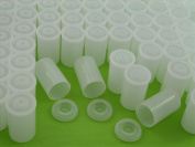 Film Canisters, Frosted Clear, Case of 200