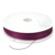 100m Flexible Purple Coated Beading Wire 7 Str 0.38mm