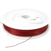 100m Flexible Red Coated Beading Wire 7 Strand 0.40mm