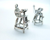 30pcs 9x13x20mm Antique Silver Lovely Mini 3d Baby Seats Chair Charm Pendant C5982