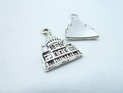 30pcs 16x23mm Antique Silver Lovely White House Capitol Building Castle Charm Pendant C3843