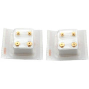 2 Pairs of Stainless Steel Gold Plated Ball Ear Piercing Studs 4mm Jewellery