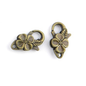 30 Pieces Jewellery Making Charms Flower Lobster Clasps pendant wholesale supplies repair