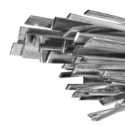 """Sterling Silver Flat Wire 0.180"""" x .020"""" Width (17"""") 4.5mm x 0.50mm"""