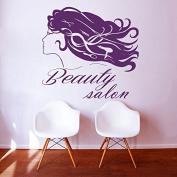 Wall Decals Beauty Salon Hair Vinyl Decal Interior Decor Sticker Hairdresser Hairstyle Girl Face Hair Dryer Scissors ML52