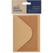 docrafts Papermania Bare Basics Cards and Envelopes, Kraft