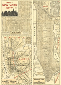 Cavallini & Co. New York City Map Poster Wrapping Paper Sheet