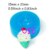 090LBX Ice Cream Silicone Moulds Cake 21mm - Cupcake Decoration Chocolate Bakeware Soap Mould, Resin Mould Charms Mould Food Safe