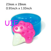 084LBX Ice Cream Bakery Silicone Mould 28mm - Bakeware Cake Decorating Fimo Polymer Clay Sugarcraft Mould, Fake Food Mould