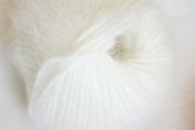 Natural White Belangor 100% Angora Rabbit Fur Yarn