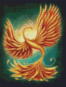 Golden Phoenix Cross Stitch Pattern