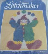Juggling Clown - Latch Hook Rug Kit - 50cm x 36cm