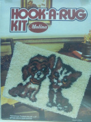 Hook-a-rug Kit 20 X27 Dog and Cat Design
