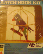 National Yarn Crafts Polly Parrot Latch Hook Rug Kit 20 X 27