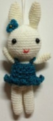 White Rabbit Wearing Small Short Skirt Pendant Small Craft Brand New/ Small Kids Girls Only/grand East Wool Weave Animals-toys Plush Birthday Party Gift Cute-0788 Lovely