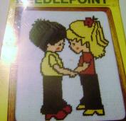 Vintage 1982 MH Yarns Needlepoint Boy and Girl Together 8 X 10