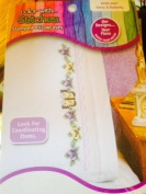 Janlynn Butterfly And Pansy Pillowcase Pair