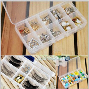 Ieasycan Set Of 2 Adjustable Jewellery Ring Earring Brooch False eyelashes Storage Box Pills Medicine Case Health Food Craft Organiser Beads Tools Storage Box
