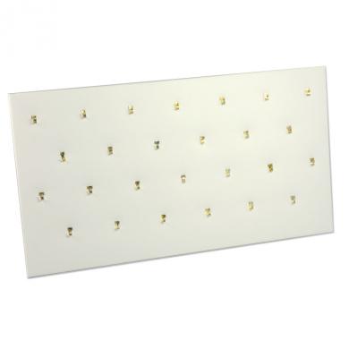 Pendant Pad (26 Hooks) White Jewellery Display