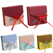 HeroNeo® 5pcs New Square Package Bracelet Bangle Jewellery Bowknot Display Box Gift Present Case