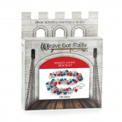 Weave Got Maille Shaggy Loops Chain Maille Bracelet Kit, Old Glory