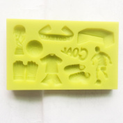 Food use grade sugarcraft Theme World Cup Soccer Football Match Candy cupcake topper Silicone Mould, Sugarcraft cake decoration Food Grade Icing lace Mould, non stick Sugar paste, Chocolate, Fondant, Butter, Resin, Cabochon, Polymer Clay, fimo, gum pas ..