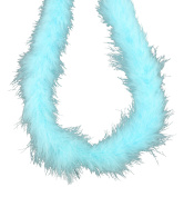 Touch of Nature 1-Piece Feather Marabou Boa for Arts and Crafts, 2-Yard, Aqua