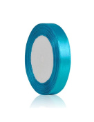Zacoo Solid Satin Ribbon 25 yards roll Dark Turquoise