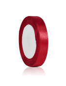 Zacoo Solid Satin Ribbon 25 yards roll Red