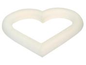 FloraCraft Extruded Styrofoam Heart 15cm x 1.9cm .