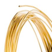 24 Gauge Round Gold Tone Brass Craft Wire - 18m
