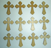 Wood Cross Unfinished Craft Mini Crosses 5.1cm Inch 12 Pieces C02-119