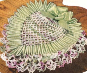 Vintage Crochet PATTERN to make - Pineapple Heart Pin Cushion Trinket Box. NOT a finished item. This is a pattern and/or instructions to make the item only.