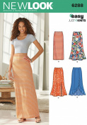 Simplicity Creative Patterns New Look 6287 Misses' Pull On Knit Skirts, A