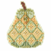 Jewelled Pear Beaded Counted Cross Stitch Ornament Kit MH184205 Mill Hill 2014 Autumn Harvest