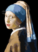 Girl with Pearl Earring By Vermeer Counted Cross Stitch Pattern