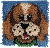 Krafty Kids Latch Hook Kit 20cm x 20cm Puppy
